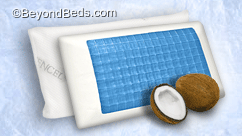 Coconut Memory Foam Pillow with Gel Layer
